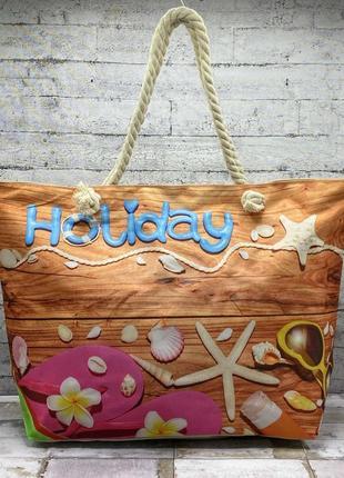 Пляжна річна легка сумка, на пікнік, шопер, легка пляжна торба, шоппер