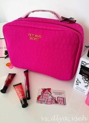 Яркая большая косметичка для путешествий beauty bag victoria's secret. оригинал. сша