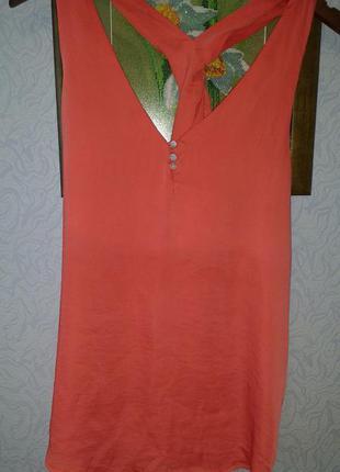 Блуза маечка с оригинальной спинкой zebra