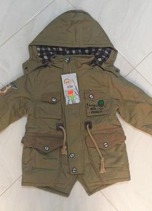 Куртка-парка для мальчика, демисезонная,  размеры 104,110.
