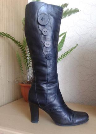 Распродажа!!! мягенькие шикарные кожаные сапоги marco tozzi , 40 р-р, 26 см