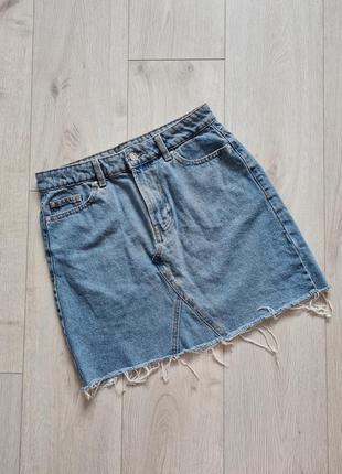 Юбка джинсовая, мини