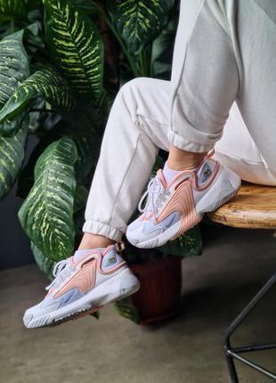 Женские кроссовки nike zoom 2k  топ качества 36 37 38 39 40 розовые