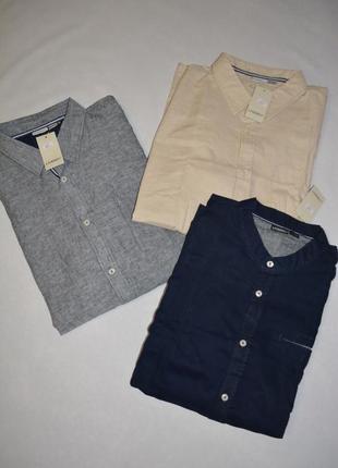 Рубашка льняная мужская больших размеров 60-70 livergy германия