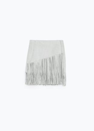 Замшевая юбка с бахромой от zara