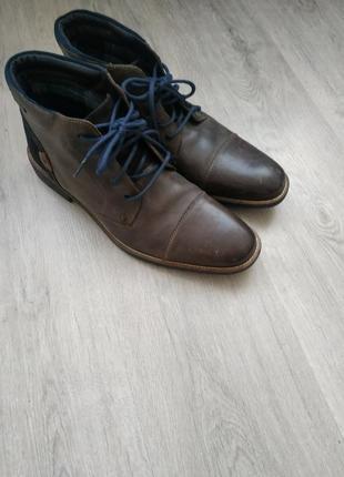 Кожаные туфли ботинки деми