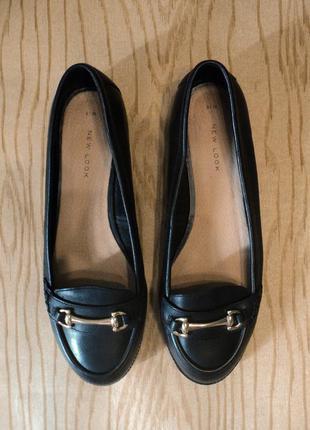 Туфли лоферы натуральная кожа кожаные черные низком балетки мокасины классические оксфорды