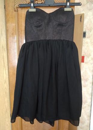 1+1=3! шикарное вечернее платье-бюстье h&m
