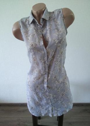 Удлиненная рубашка женская блузка