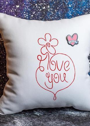 """Акция! бесплатная доставка нп! декоративная подушка """"i love you"""""""