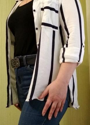 Рубашка удлиненная классическая базовая next
