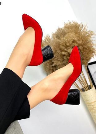 Туфли натуральная замша4 фото