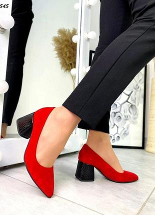 Туфли натуральная замша5 фото