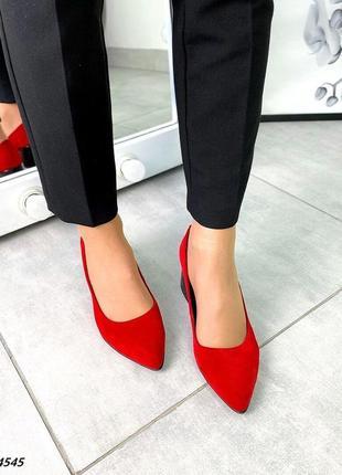 Туфли натуральная замша3 фото