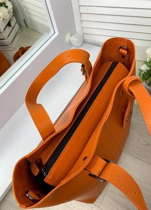 Оранжевая большая сумка5 фото