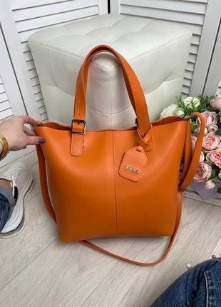 Оранжевая большая сумка8 фото