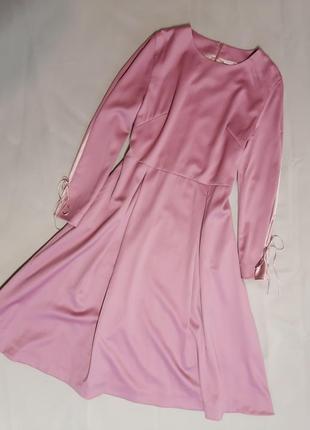 Платье шерсть + шёлк couture de fleur