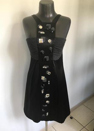 Стильне атласне коротке плаття