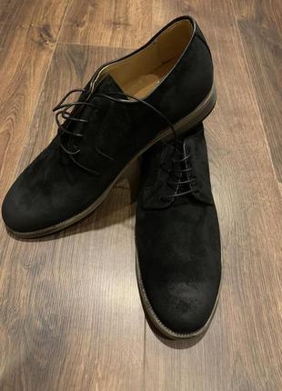 Чоловічі замшеві туфлі vero cuoio