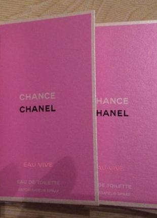 Пробники туалетной воды chanel chance eau vive оригинал!