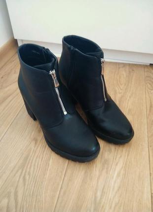 Ботильоны сапоги на среднем каблуке