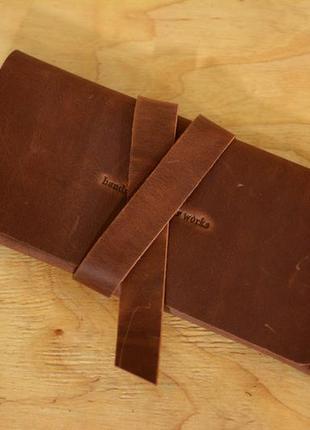 Кожа. ручная работа. кожаный коричневый кошелек, клатч с закруткой