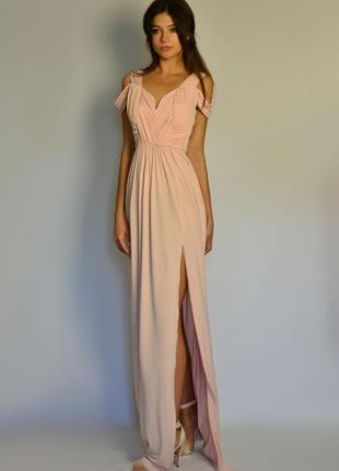 Идеальное вечернее платье в пол с открытой спиной для подружек невесты  asos