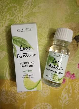Антибактериальное средство для лица с органическими чайным деревом и лаймом love nature