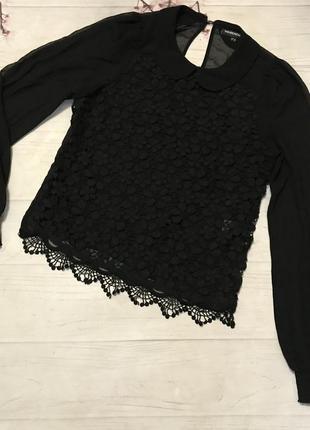 Блузка блуза шифоновая кружевная