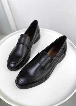 Мюли туфли кожаные лоферы