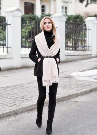 Великий білий шарф палантин із натуральноі віскози