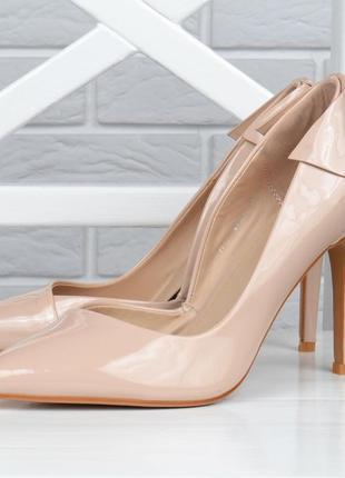 Туфли лодочки женские бежевые catarilla польша