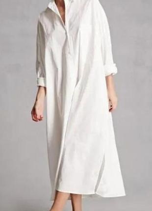 Супер платье- рубашка оверсайз