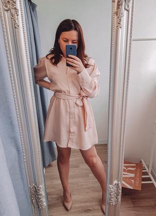 Сатиновое платье от zara
