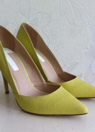 Идеальные туфли-лодочки цвета лайм, 38
