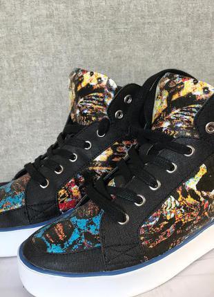 Цветные ботинки -кеды nine west