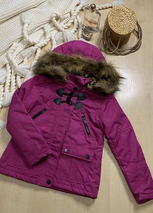 Новая куртка - парка на девочку 5-6 лет