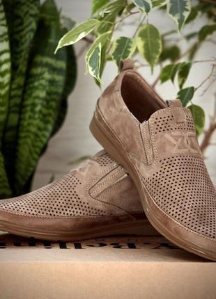 Мужские туфли, натуральный нубук, 40-45р.