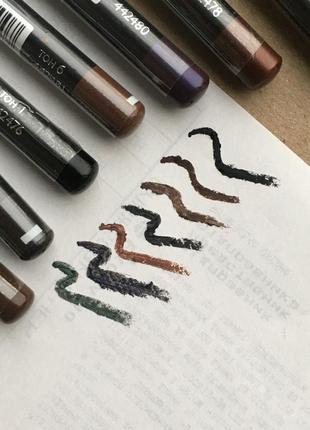Карандаш для глаз бровей чёрный черный коричневый серый зелёный зеленый фиолетовый