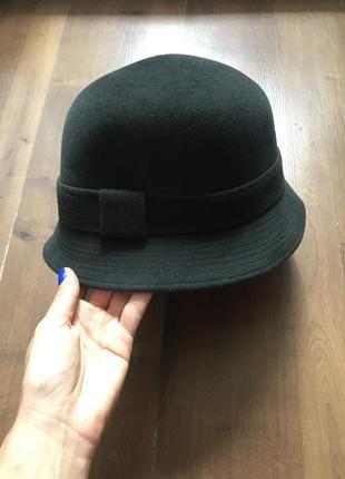 Новая шерстяная черно-серая шляпка из кроличьего фетра hermes оригинал