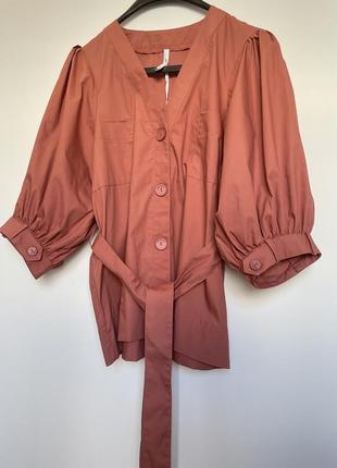Блуза рубашка топ с об'ємними рукавами італія нова колекція