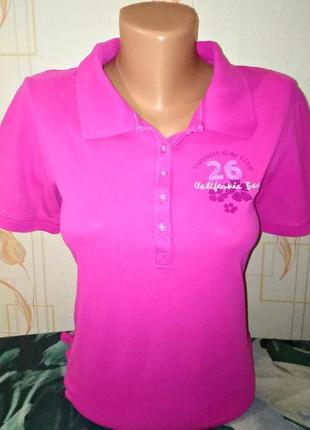 Стильная футболка поло розового цвета stooker, 💯 оригинал, молниеносная отправка 🚀⚡