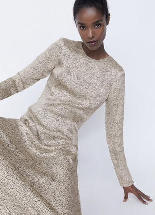 Zara платье в горох вискозное  s, m