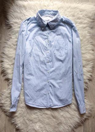 Голубая рубашка н&м