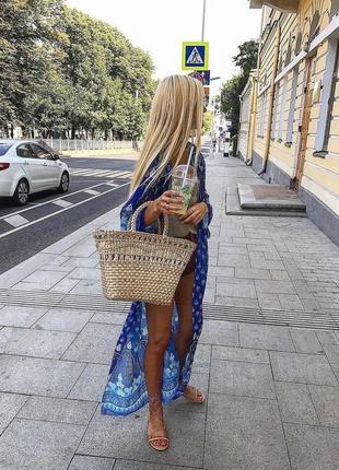 Женская корзина ручное плетение ( натур солома )