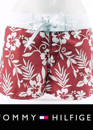 Шорты с лампасами цветочный принт tommy hilfiger original р.m-l eu 42