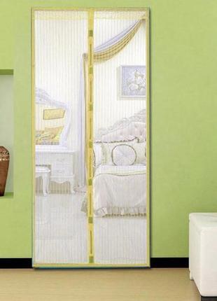 Антимоскітна шторка magic mash yellow москитная сетка на двери