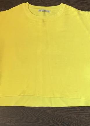 Кофта zara оверсайз трикотаж жёлтая