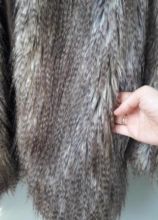 Модная шуба искуственный мех 917643