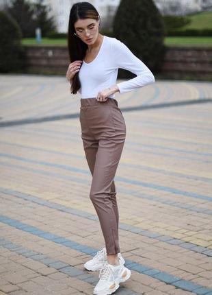 Лосины штаны эко-кожа